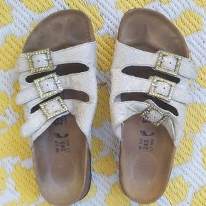 Betula by Birkenstock 38 sandals with gold accents